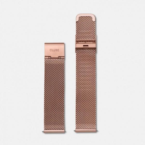 Cluse strap mesh roségoudkleurig CLS047 – 18mm horlogeband