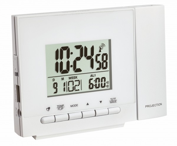 TFA Dostmann Radio Controlled Wekker 60.5013.02 Thermometer Digitaal