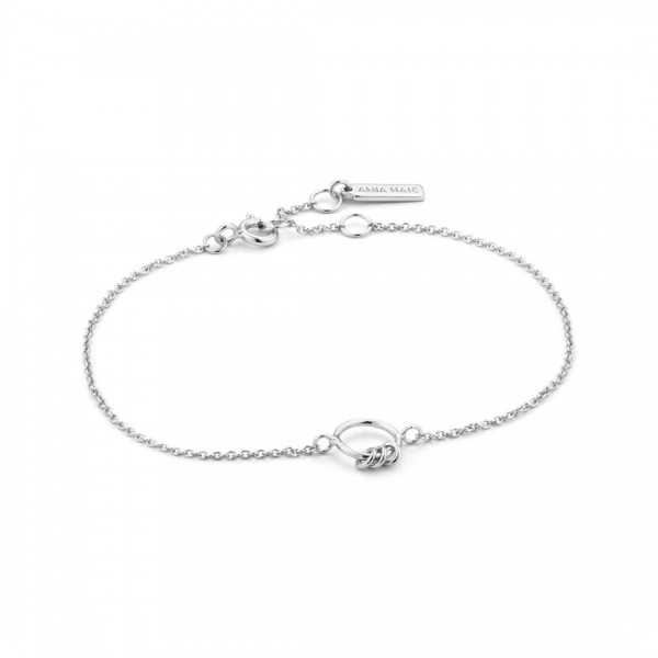 Ania Haie - Modern Circle Armband B002-02H Zilverkleurig