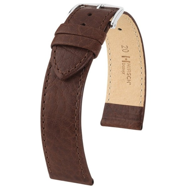 Hirsch horlogeband - Denver Goudbruin 22mm