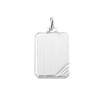 Graveerhanger Rechthoek 21x16mm zilver