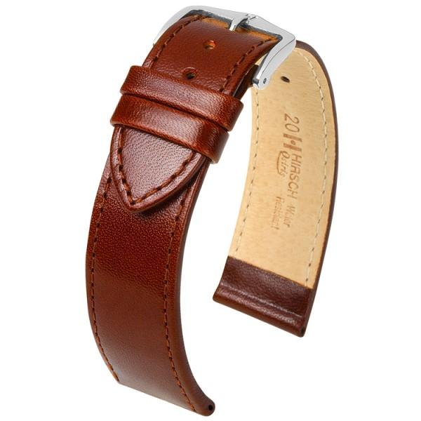 Hirsch horlogeband - Osiris bruin - 18mm