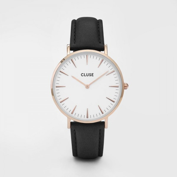 CLUSE LA BOHEME ROSE GOLD WHITE/BLACK 38MM HORLOGE CL18008