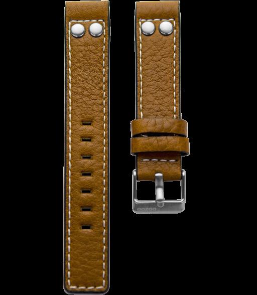 OOZOO horlogeband Cognac Bruin 22mm breed