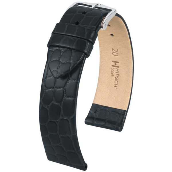 Hirsch horlogeband - Sobek zwart 18mm