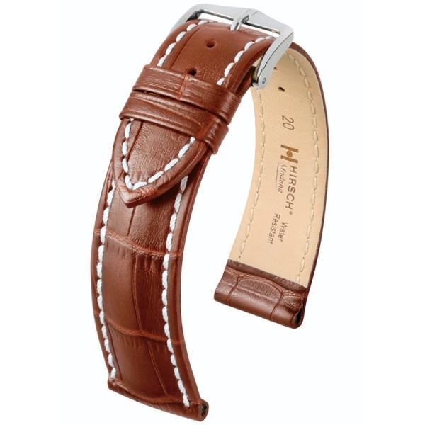Hirsch Modena Horlogeband 18mm Goudbruin