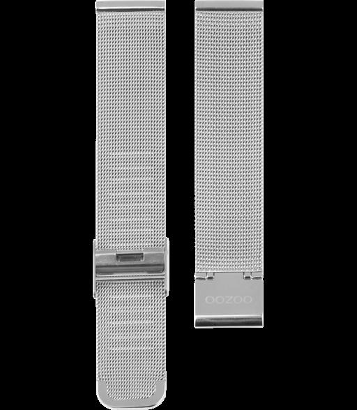 OOZOO horlogeband Milanees-Mesh edelstaal zilverkleurig 22mm