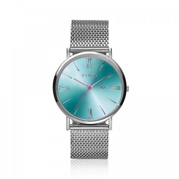 Zinzi Zilver Blauw Horloge 34 mm ZIW511M