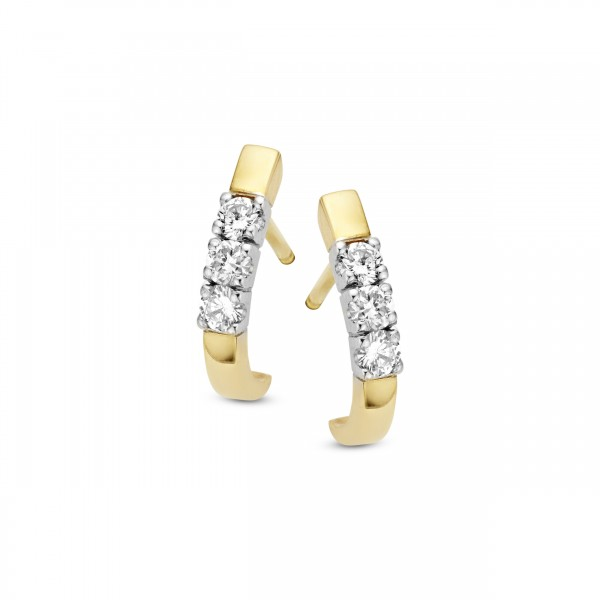Briljant - Memoire Gouden Oorknoppen 6x0,03crt Diamant