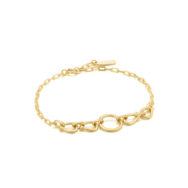 Ania Haie - Horseshoe Link Armband B021-04G Goudkleurig