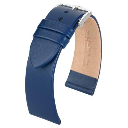 Hirsch Italocalf Horlogeband 17822080-2-20 Blauw 20mm