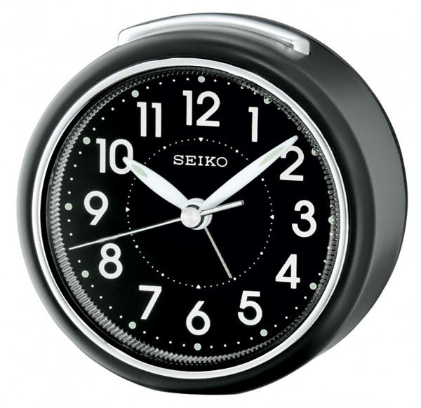 Seiko wekker QHE125K - zwart kunststof kast