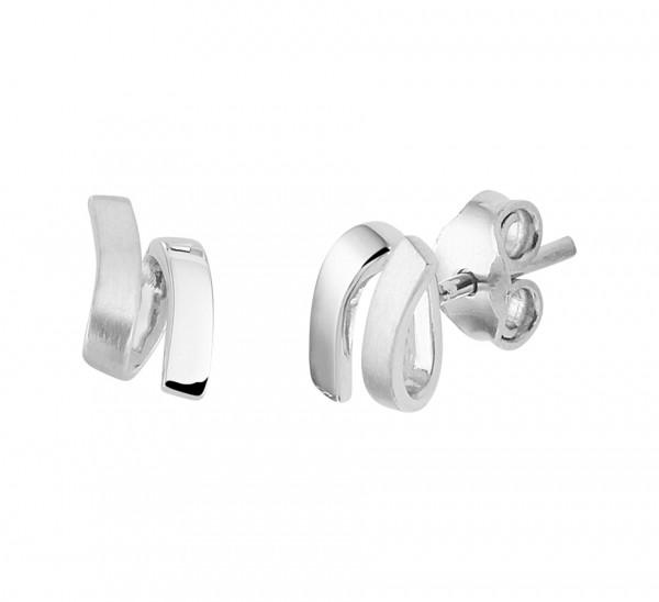 Zilveren Twist Oorbellen - 1321599