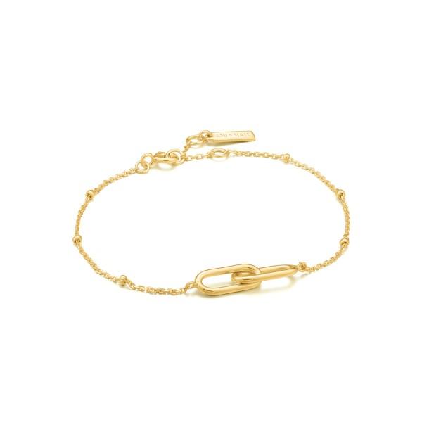 Ania Haie - Beaded Chain Link Armband B021-01G Goudkleurig