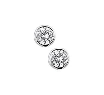 Zilveren Oorknopjes Rond - 4mm
