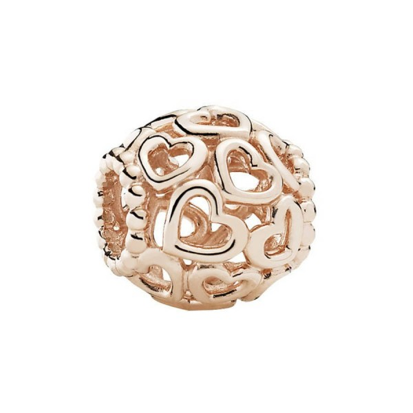 Pandora Open Your Heart Bedel Dames 780964 Roseverguld Zilver