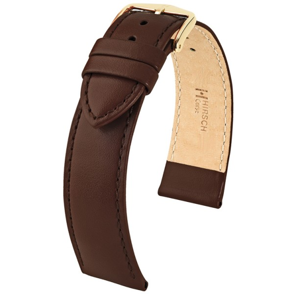 Hirsch horlogeband - CORSE - 18mm BRUIN - M