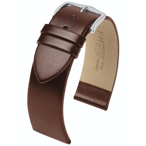 Hirsch horlogeband - Wild Calf bruin 22mm