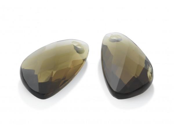Sparkling Jewels Oorsieraad Gemstone EAGEM23-AS Smokey Quartz Facet