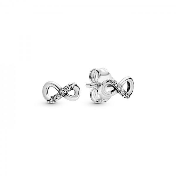 Pandora oorbellen 298820C01 Infinity Sparkling