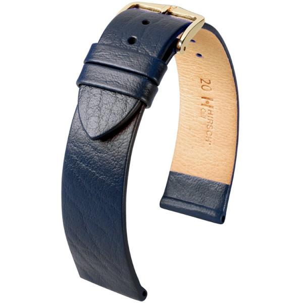 Hirsch horlogeband - CALF- 18mm BLAUW - M