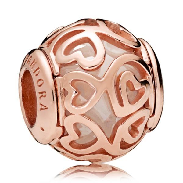 Pandora Hearts Filigree Bedel 787348CZ Rosé Verguld Zilver