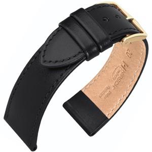 Hirsch horlogeband - Umbria Zwart - 22mm