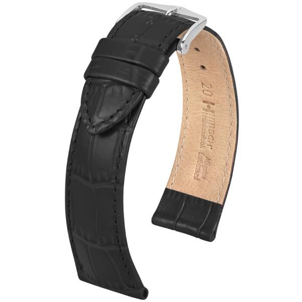Hirsch horlogeband LOUISIANALOOK Zwart 22mm