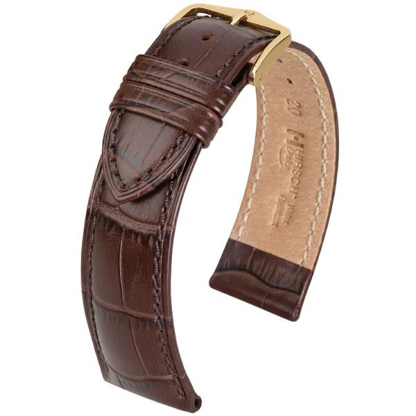 Hirsch horlogeband - Duke Donkerbruin L - 26mm