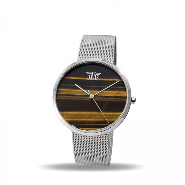 Davis 2331 Tijgeroog bruin Horloge