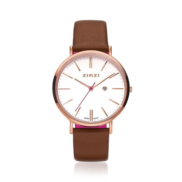 Zinzi Bruin Rosé Horloge 38 mm ZIW408