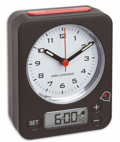 TFA Dostmann Combo Radio Controlled Wekker 60.1511.01.05 Digitaal Analoog