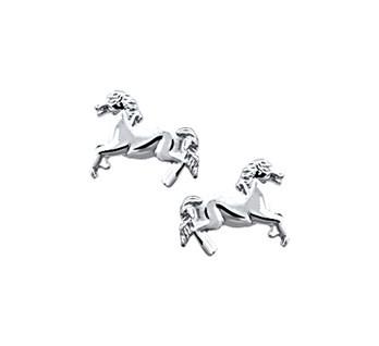 Zilveren Oorknopjes Paard