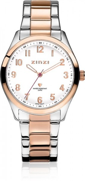 Zinzi Goud Zilver Horloge 38 mm ZIW212