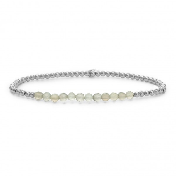 Sparkling Jewels Armband Universe SB-GEM31-3MM-LINE Grey Agate 3 mm Small
