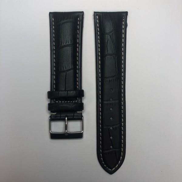 Remerko Horlogeband - Zwart - 24mm