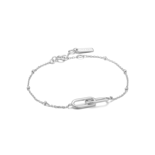 Ania Haie - Beaded Chain Link Armaband B021-01H Zilverkleurig