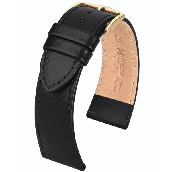 Hirsch horlogeband - Umbria Zwart - 20mm