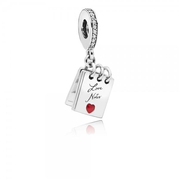 Pandora Love Notes Bedel Dames 797835CZ Zilver Zirkonia Emaille