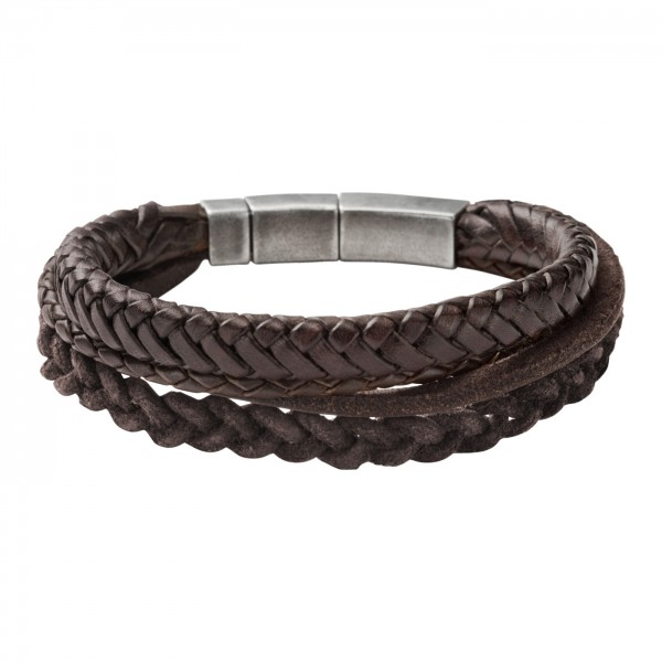 e998c675a9a Fossil Mens Vintage Casual Heren Armband JF85296040 Bruin Leer ...