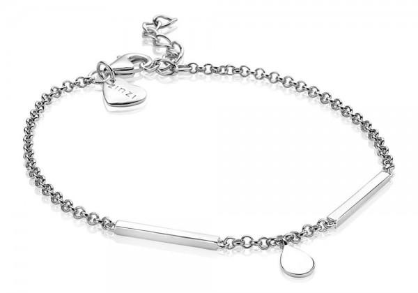 Zinzi Armband Dames Fantasieschakel Staaf Druppel ZIA1678 Zilver