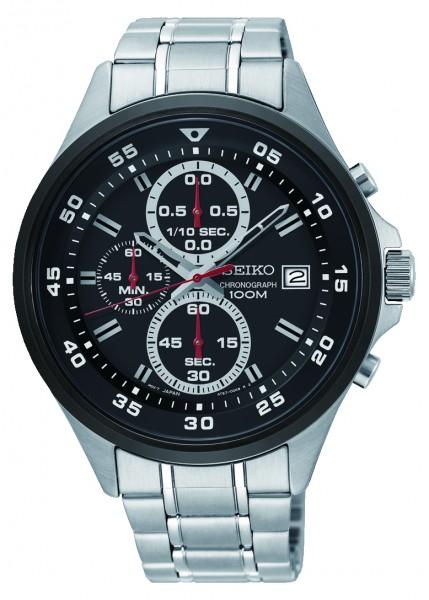 Seiko SKS633P1 Herenhorloge Chronograaf zwart 41mm