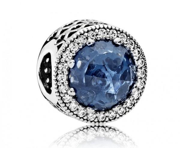 Pandora Radiant Hearts Bedel Dames 791725NMB Zilver Midnight Blue Zirkonia