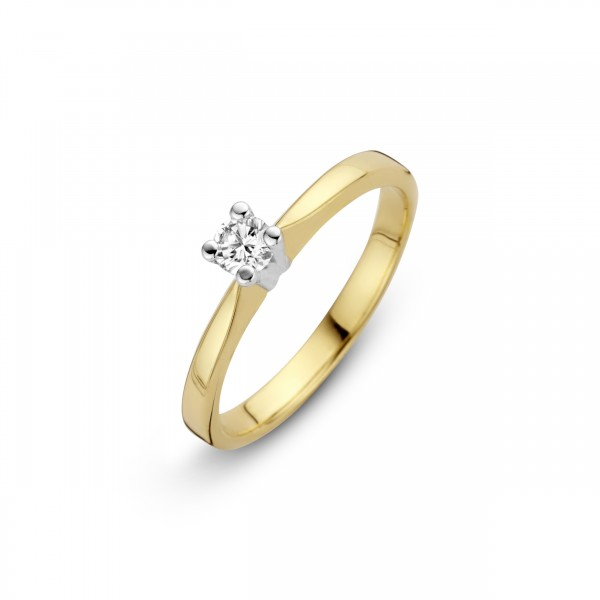 Briljant - Eternal Gouden Damesring 0,06crt Diamant