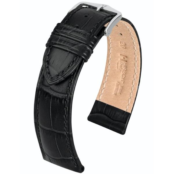 Hirsch horlogeband - DUKE -18mm ZWART - XL