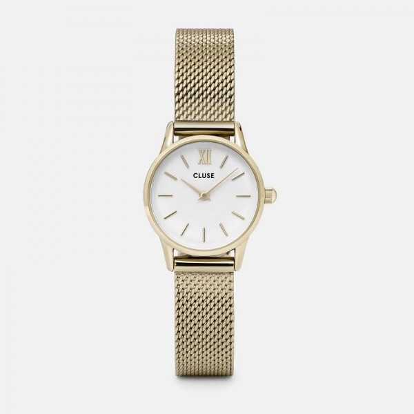 CLUSE LA VEDETTE GOLD/WHITE 24MM HORLOGE CL50007
