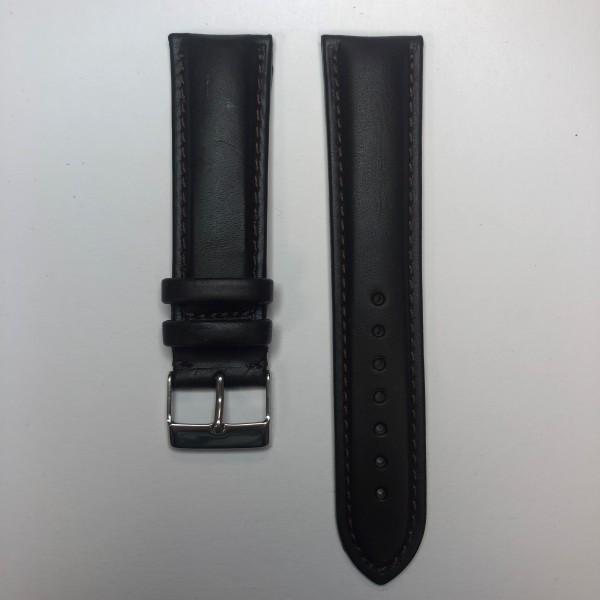 Remerko Horlogeband - Donker Bruin - 22mm