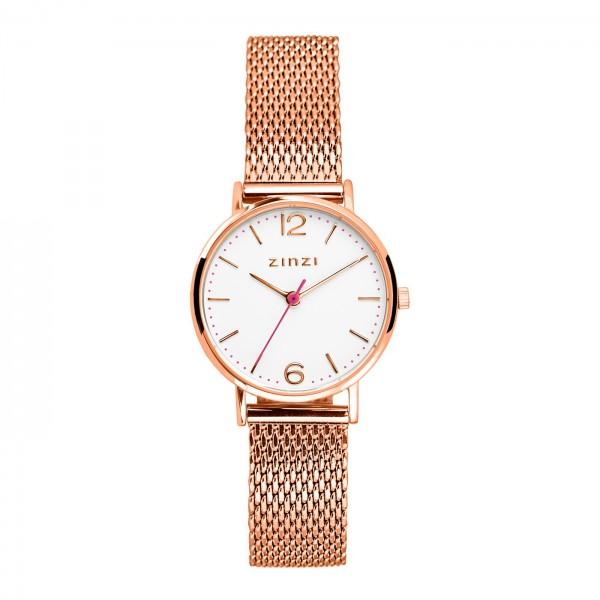Zinzi Rosé Wit Horloge 28 mm ZIW608M