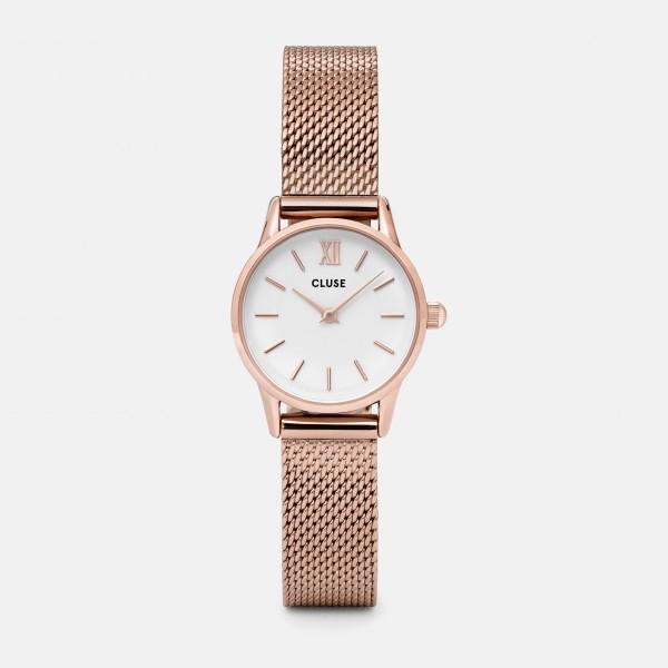 CLUSE LA VEDETTE ROSE GOLD/WHITE 24MM HORLOGE CL50006