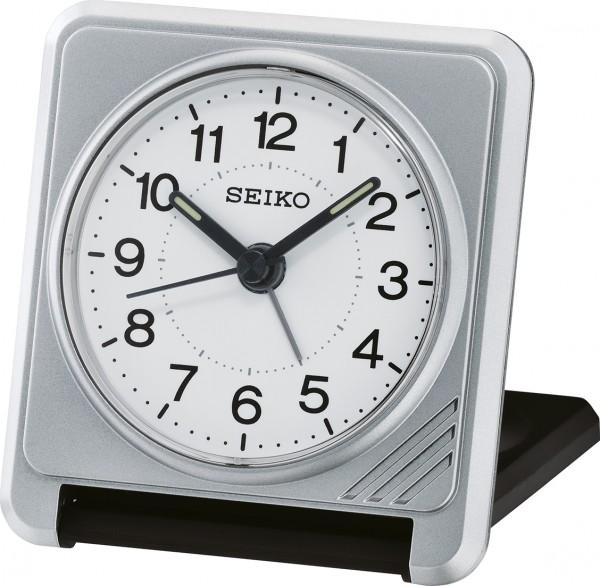 Seiko reiswekker QHT015S elektronisch piep alarm - grijs kunststof
